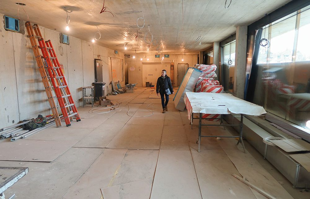 Noch wird intensiv im neuen Gebäude des Tierheims beider Basel intensiv gearbeitet, damit bei der Heimkehr alles bereit ist.